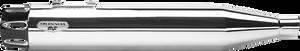 "Arlen Ness 4"" Deep Cut Slip-Ons for '95-16 FL Models -Chrome w/ Black End Caps"