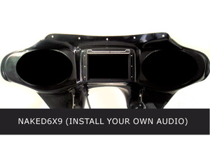 Hoppe Fairing with 6x9 Speaker Cutouts for Harley Davidson Fatboy Models FLSTF [No Audio Installed]
