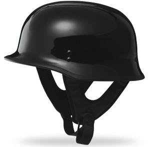 Fly 9mm Half Helmet - Gloss Black Finish (Select Size)