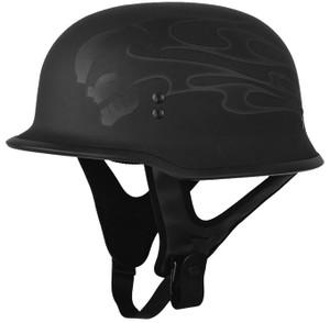 Fly 9mm Half Helmet - Ghost Skull Finish (Select Size)