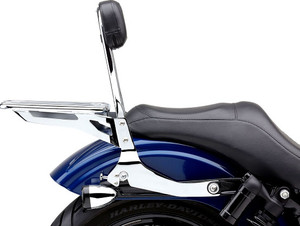 Cobra Detachable Sissy Bar Kit for '06-17 Dyna and Dyna Wide Glide models - Chrome