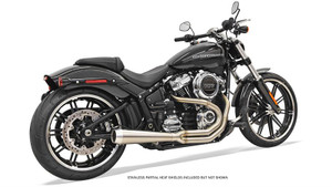 Bassani Road Rage III 2-into-1 Stainless  Exhaust with Megaphone Muffler for Harley-Davidson Softail Fatboy and Breakout Models '18-Up