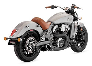 Freedom Performance Exhaust 4.5 inch Combat 2 into 1 System for Indian Scout Models '14-16 (Select Finish)