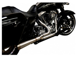 Trask Stainless 2-into-1 Exhaust for Harley-Davidson Touring Models '17-Up - Straight