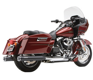 Cobra 3 inch Slip-On Mufflers with Racepro Tips for '95-16 Harley-Davidson FL Touring & H-D Trike - Black