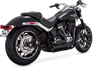 Vance & Hines Shortshots Staggered for '18-Up Softail Models (Except 2018 Softail Fat Boy or Breakout) - Black