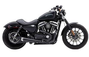Cobra El Diablo 2-into-1 Exhaust for Harley Davidson XL Sportster Models '14-Up - Black with Billet Tip