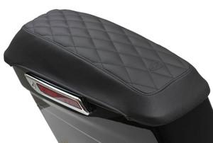 Mustang Saddlebag Lid Covers for Harley Davidson FL Touring '14-Up - Diamond Stitching