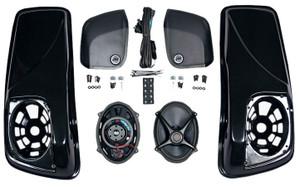 J&M ROKKER  300 Watt 5X7 inch Saddlebag Lid Speaker Kit for '14-Up Harley Davidson Touring