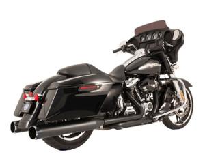 S&S El Dorado True Dual Exhaust System for Harley Davidson Touring Models '17-Up - Black w/ Thruster End caps