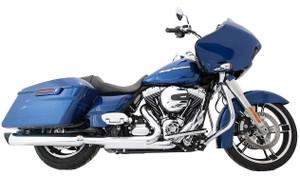 TAB Performance 4 inch BAM Sticks Tip Compatible Slip On Mufflers for Harley Davidson Touring Models '95-16 - Chrome