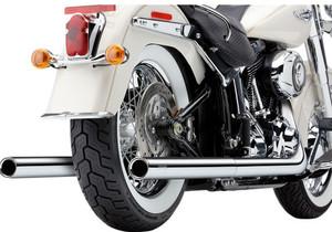 Cobra USA Dual Exhaust 2-into-2 for Harley Davidson Softail Models '12-17 - Chrome