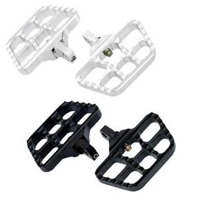 Joker Machine Mini Serrated Floorboards for Harley Davidson Footpeg Mounts - Choose Chrome or Black