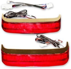 Custom Dynamics Saddlebag Lights for Harley Davidson FL '97-13 OEM Saddlebags - Chrome/Red Lens