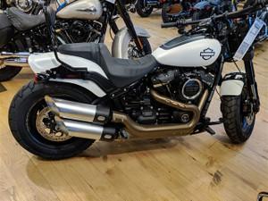 TAB Performance Slip On Mufflers for Harley Davidson Fat Bob Softail Models '18-Up - Satin Chrome Finish