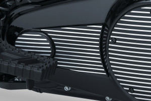 Kuryakyn Finned Primary Accent For '17-Up Milwaukee-Eight Touring & Trike (Choose Chrome or Satin Black & Machined)