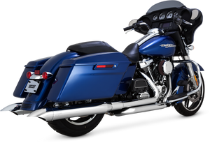 Vance & Hines Turn Down Slip On Mufflers for '17-Up Harley-Davidson Touring Models - Chrome