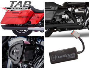 TAB Performance Stage 1 Power Package for Harley Davidson Touring Models '17-Up - Black (Tip Compatible)