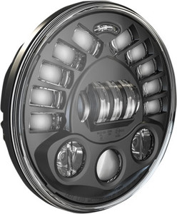 J.W. Speaker 7 inch Pedestal Mount LED Headlight - Black