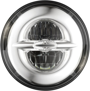 Drag Specialties Premium 7 inch Reflector Style LED Headlight for Harley Davidson Models