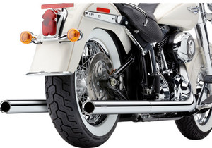 Cobra Bad Hombre Dual Exhaust for Harley Davidson Softail Models '07-11 - Chrome