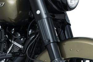 Kuryakyn Upper Fork Slider Accents for '14-Up Harley Davidson Touring Models (Choose Black or Chrome)