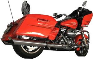 Tab Performance Slash Down Mufflers for Harley Davidson Touring Models 17-Up - Chrome