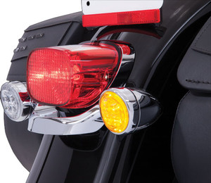 Ciro Fang LED Signal Light Inserts for '00-Up Harley Davidson Models with Bullet Turn Signals (1156 Style Only) Sold in Pairs