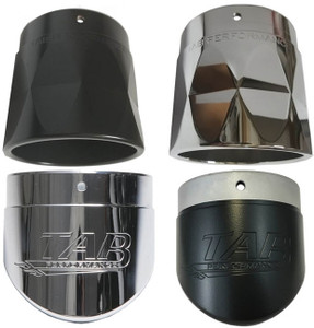 TAB Performance 4 inch Replacement Exhaust Tips - Sold Each (Choose Style and Color)