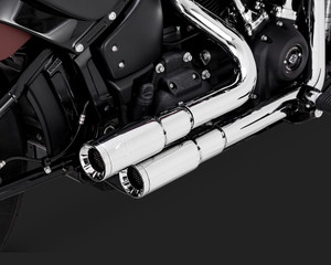 Vance & Hines Mini Grenades 2-into-2 Exhaust System for 18-Up Harley Davidson Softail Models (Click for fitment) Chrome or Black