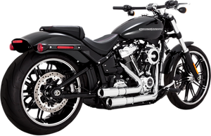 Vance & Hines Mini Grenades 2-into-2 Exhaust System for 18-Up Harley Davidson Softail FXDR 114, Fatboy and Breakout Models (Click for fitment) Chrome or Black