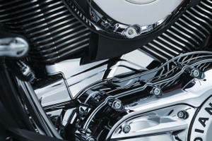 Kuryakyn Cylinder Base Cover for '14-Up Indian Touring Models - Chrome
