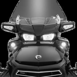 Show Chrome LED Fog Light Kit for '15-18 Can-Am Spyder F3 - Black Pads