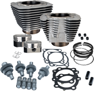S&S Cycle 883cc to 1200cc Hooligan Engine Kit for '02-Up Harley Davidson 883 Sportster Models - Silver