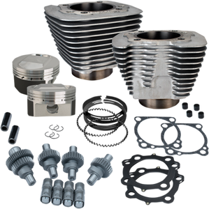 S&S Cycle 1200cc to 1250cc Hooligan Engine Kit for '02-Up Harley Davidson 1200 Sportster Models - Silver
