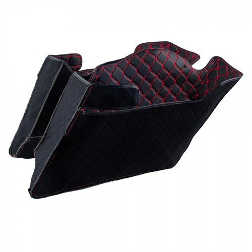 Saddlebag Liners for '93-13 4.5 inch Stretched Saddlebags - Sold in Pairs (Select Stitching Color)