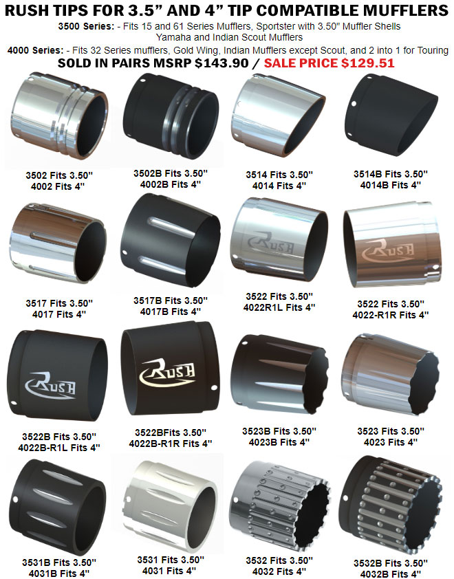 Rush Exhaust Tips