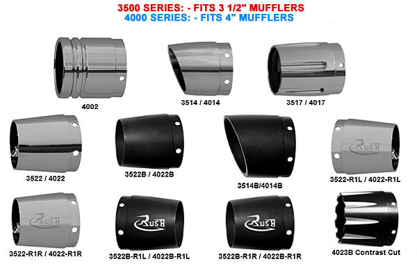 Rush Racing Muffler Tips