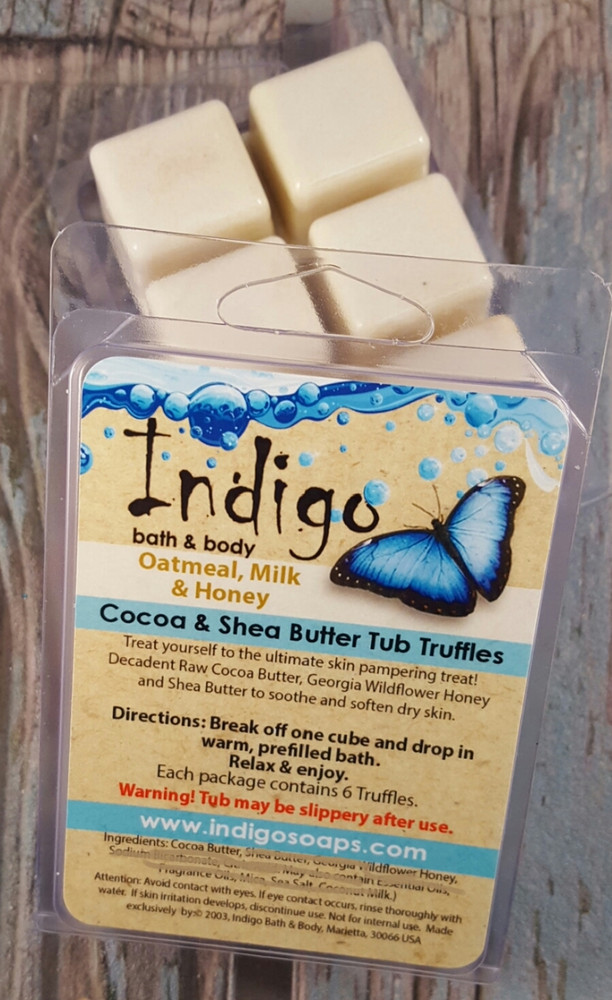 Cocoa & Shea Tub Truffles - Oatmeal, Milk, & Honey
