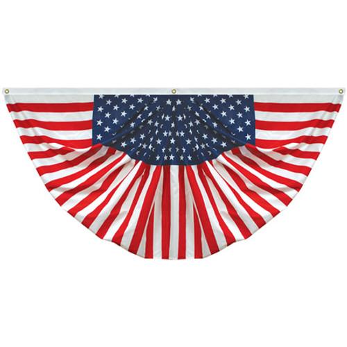 3' x 6' Endura-Poly Pleated Americana Fan - 160004