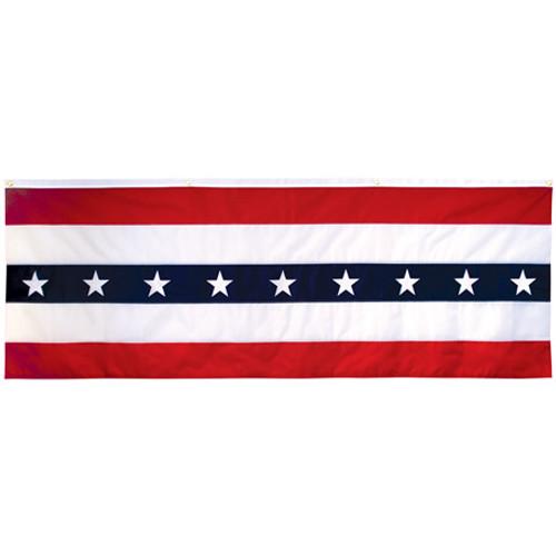 3' x 8' Nylon Patriotic Flag Flat