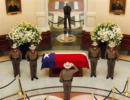 Cotton  Texas Interment Flag - Casket Flags