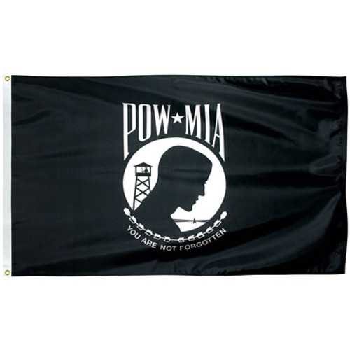 Single Faced Nylon POW-MIA Flags