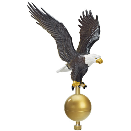 "15"" Flying Eagle on 3"" Ball Ornament - Natural Color EAG-0463-NAT"