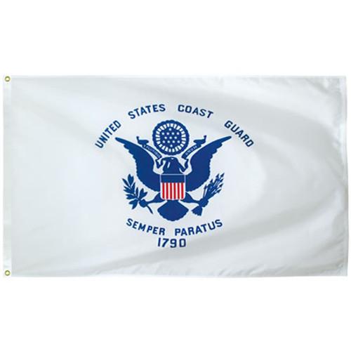 Coast Guard  flags USCG