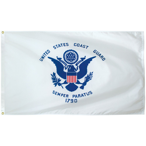 3' x 5' Poly-Max Outdoor Coast Guard Flag 070410