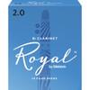 Rico Royal Bb Clarinet Reeds, Strength 2.0, 10-pack
