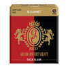 Rico Grand Concert Select Bb Clarinet Reeds, Thick Blank, Unfiled, 4.5, 10-pack