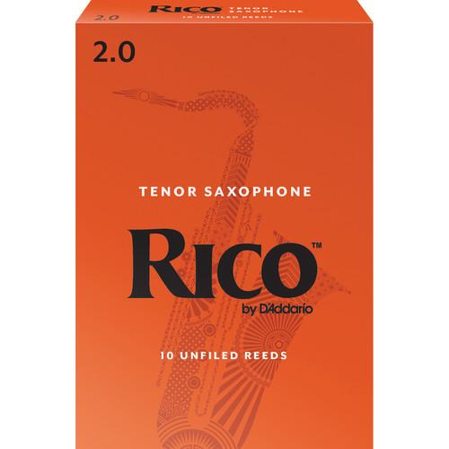 Rico Tenor Sax Reeds, Strength 2.0, 10-pack