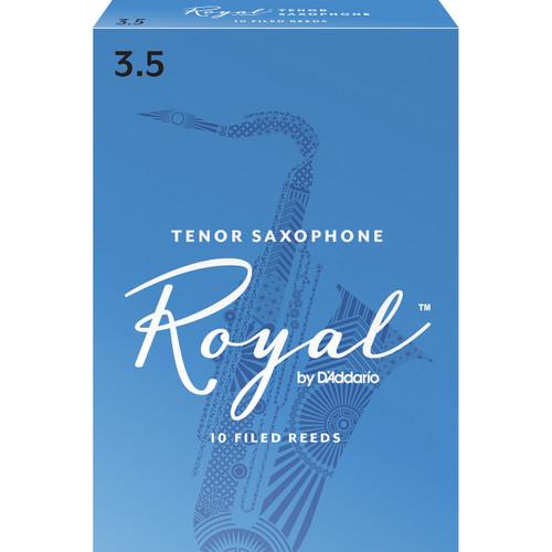 Rico Royal Tenor Sax Reeds, Strength 3.5, 10-pack